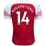 f219acd5ac3 Viscustom AUBAMEYANG 14 Arsenal Home 18 19 Soccer Jersey Men s Color RED