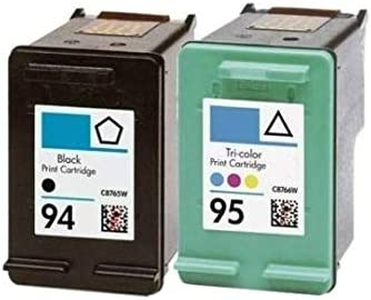 1 Black+1Tri-Color Rich/_life HP95 HP98 Remanufactured Ink Cartridge Replacement for HP 95 C8766WN /& HP 98 C9364WN for HP Printer Officejet Deskjet Photosmart 2 Pack