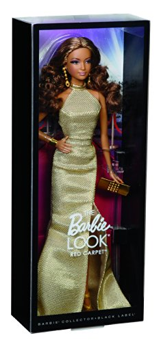 41T8vJVEryL - Barbie The Look Red Carpet Black Label Collector: Gold Dress Barbie Doll