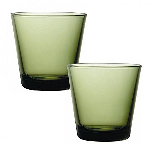 Iittala Kartio Moss Green Tumblers, Set/2 Pieces by Kaj ()