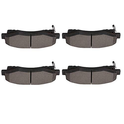 (ECCPP Brake Pads, 4pcs Front Ceramic Disc Brake Pads Kits fit for 2009 2010 2011 2012 2013 2014 Acura TL,2006-2014 Honda)