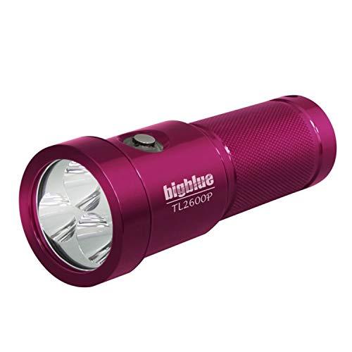 BigBlue TL2600-2600 Lumen Narrow Beam Tech Light (Glossy - Pink Dive Light