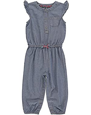 Carters Girls 0-24 Months Chambray Jumpsuit