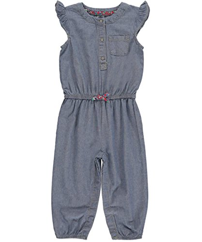Carters Girls Months Chambray Jumpsuit