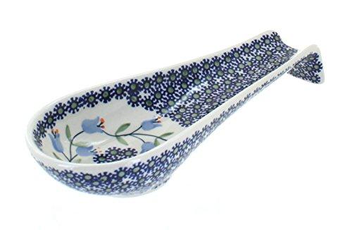 - Blue Rose Polish Pottery Tulip Large Spoon Rest