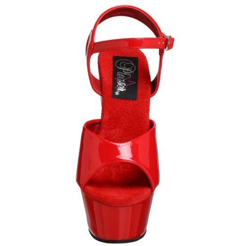 Sandalias Rojo para mujer vestir de Pleaser KISS 209 Uwxq0x1E