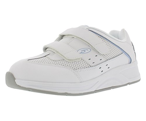 Dr. Scholl's Women's Kellie Therapeutic Athletic Shoe, Wide Width (10W) White/Grey