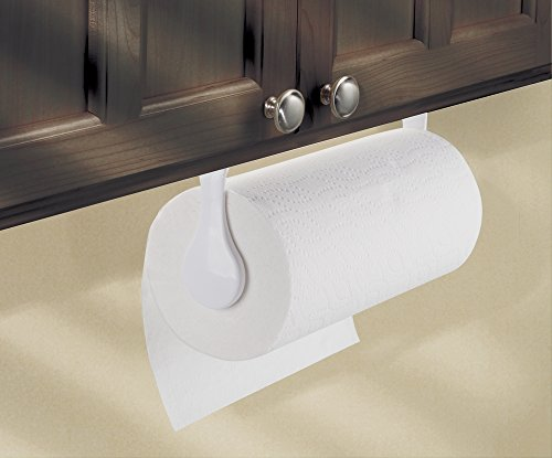 Mdesign Kitchen Paper Towel Holder Wall Mount White