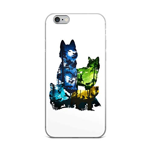 iPhone 6 Plus/6s Plus Case Anti-Scratch Creature Animal Transparent Cases Cover Wolf Pack Animals Fauna Crystal Clear