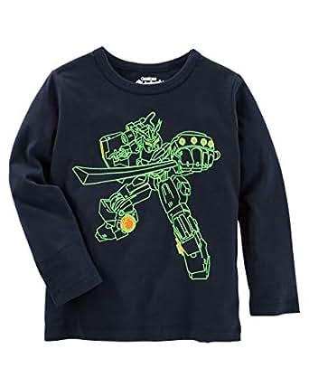OshKosh B'gosh Black Round Neck T-Shirt For Boys