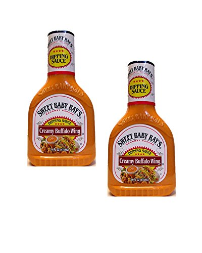 - Sweet Baby Ray's Creamy Buffalo Wing Dipping Sauce (Pack of 2) 14 oz Bottles