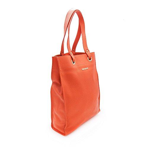 Hombro Auténtica Bag Mujer Zerimar Piel Cuero Bolso Mano Premium De Natural Shopper 38x30x10 Tote Medidas Cm Naranja SqC0CxwR7n