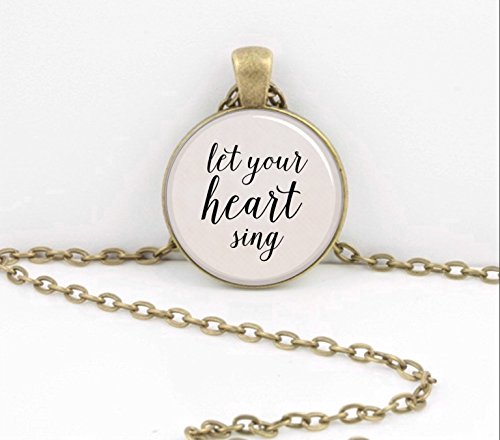 (Tinkerbell Peter Pan Let your heart sing necklace pendant jewelry or Key Ring Key Chain)