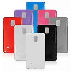 GJY S-Shaped TPU Model Case for Samsung Galaxy Note 4 (Assorted Colors) , Rose