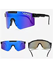 Pit-viper Sunglasses for Men and Women, Windproof Eyewear UV400, Pit Viper Sunglasses, Outdoor Cycling Glasses, UV400 Polarized, Polarized TR90 Frame Sunglasses, Color Electroplating Film
