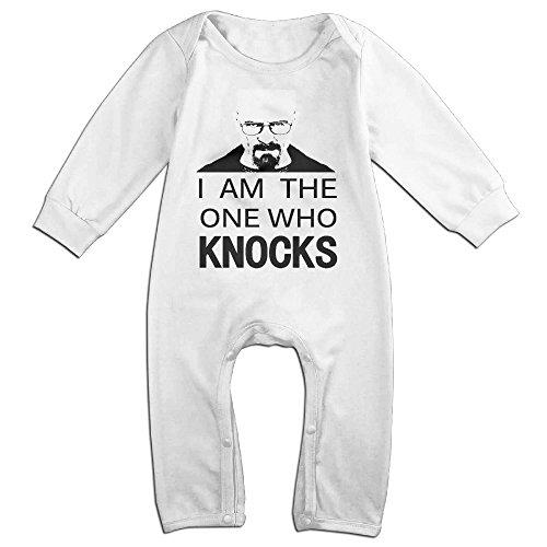 Mmo-J Newborn Babys Im The Knocks Long Sleeve Bodysuit Outfits White Size 18 (Spongebob Squarepants Cast Costumes)