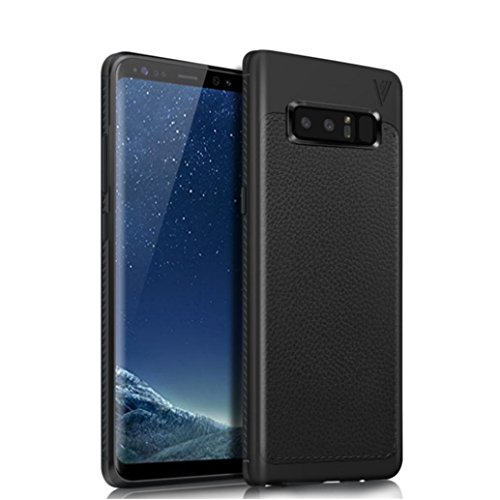 Price comparison product image For Galaxy Note 8 Case,Elaco Ultra [Slim Thin] Scratch Resistant TPU Leather Soft Skin Protective Case Cover for Samsung Galaxy Note 8 (BK, NOTE8)