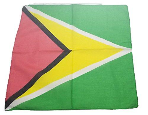 (BUNFIREs ONE Guyana FLAG Guyanese Bandana Bandanna BIKER DURAG HEAD WRAP SCARF LARGE SIZE: 22 X 22)