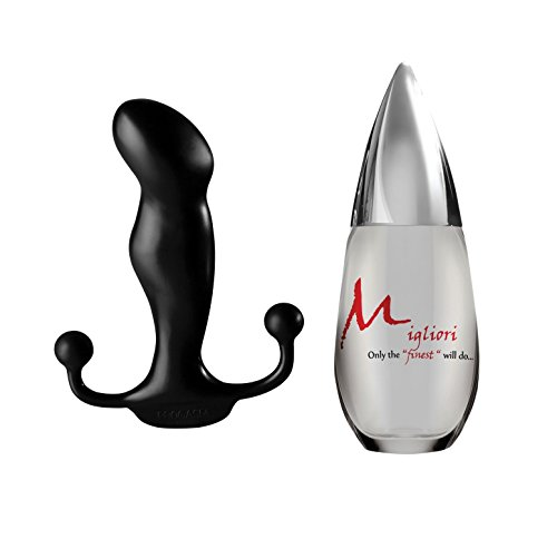 Aneros Progasm paired with Migliori High End Silicone Lubricant (Black, 100 ml) by Aneros, Migliori