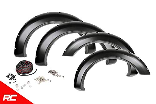 - Rough Country Pocket Fender Flares Flat Black (fits) 2009-2014 F150 (F-150) F-F10911