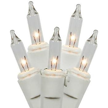 Amazon.com : Set of 35 Blue Mini Christmas Lights - White Wire ...