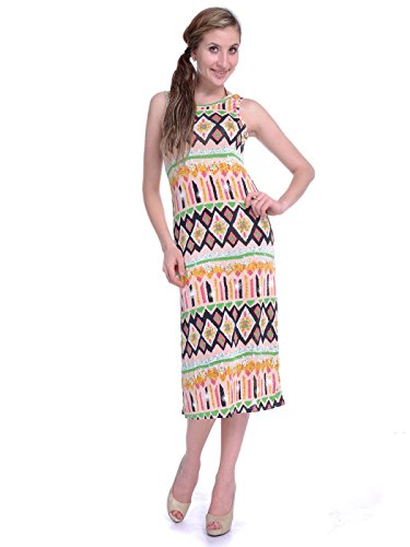 Anna-Kaci S/M Fit Multicoloured Kitschy 1960s Inspired All Over Print Maxi Dress