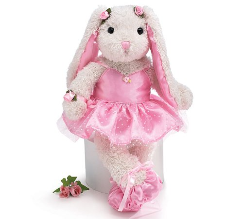 Whimsical 15in Ballerina/Ballet Bunny Plush Toy