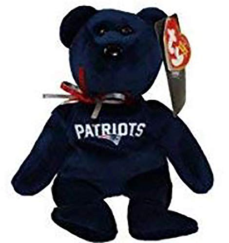 NFL New England Patriots TY Beanie Baby Teddy Bear Plush 8.5