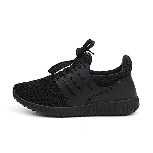 Fereshte Uomo Donna Unisex Coppia Moda Casual Sneakers Traspiranti Scarpe Sportive Atletiche N.774 Nero
