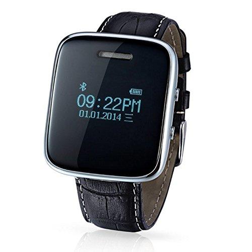 Amazon.com: inDigi NEW Bluetooth Smart Leather Wrist Black ...
