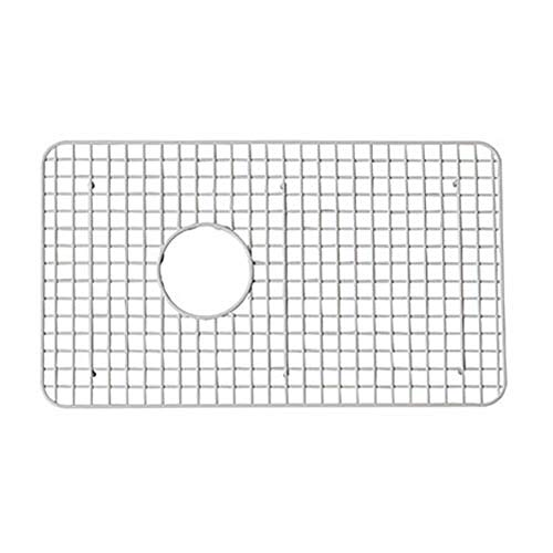 - Rohl WSG6307WH 26-1/4-Inch by 15-1/4-Inch Wire Sink Grid for 6307 Kitchen Sinks in White Abcite Vinyl