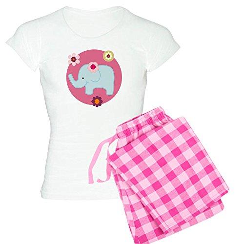 CafePress - Lollipop Jungle Girl Elephant Women's Light Pajama - Womens Novelty Cotton Pajama Set, Comfortable PJ Sleepwear Lollipop Jungle Wall