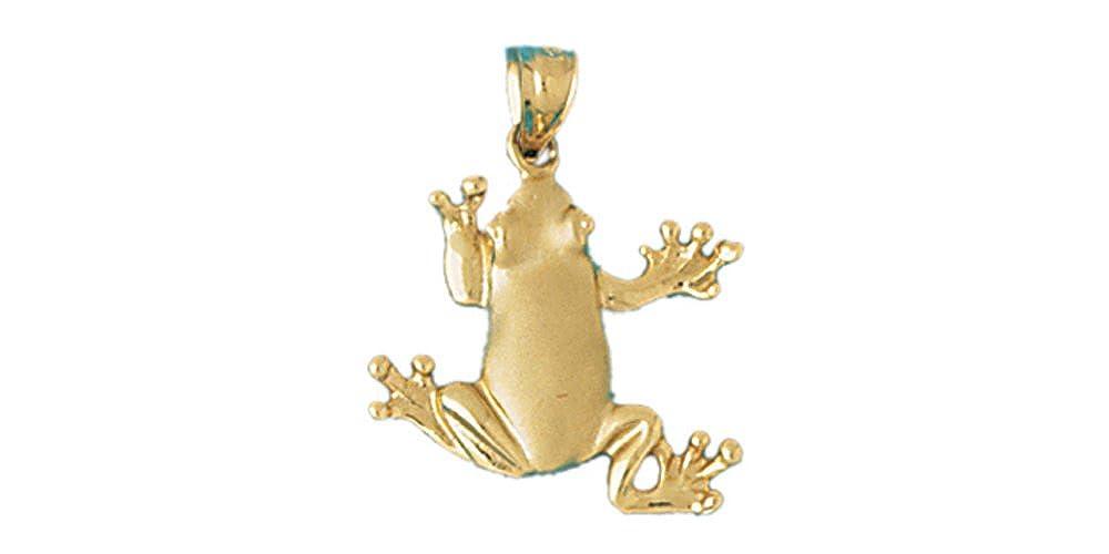19mm x 22mm 14k Yellow Gold Frog Pendant