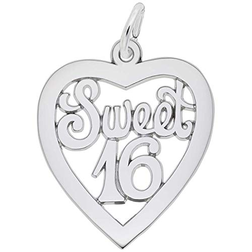 Rembrandt Charms Sweet 16 Charm, Sterling Silver
