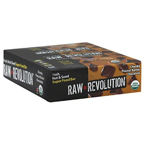 Raw Revolution Fruit, Nut and Seed Superfood Bars, Chunky Peanut Butter Chocolate by Raw Revolution