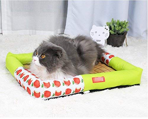IANXI Home Oxford Waterproof Dog Bed Pet Dog Cat Summer Sleeping Mat (Green,M) for Cat Dog