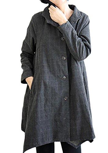 Plaid A-Line Coat - 5