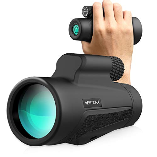 lar Telescope, High Power Spotting Scope Night Vision, Waterproof HD Optics, Single Hand Focus for Adults,Outdoors,Bird Watching,Hunting,Camping,Travel ()
