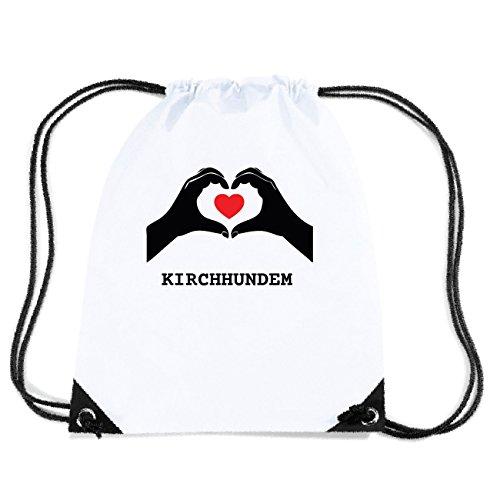 JOllify KIRCHHUNDEM Turnbeutel Tasche GYM2155 Design: Hände Herz