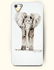 OOFIT Phone Case for Apple iPhone 4/4S -- Big Elephant -- Oil Painting
