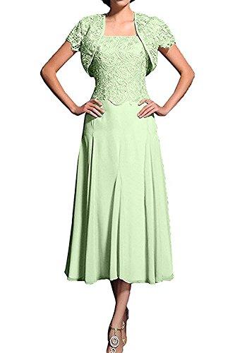 Herrlich Salbei Wadenlang mit Kurzarm Ballkleider mia Abendkleider La Abschlussballkleider Braut Bolero Spitze Promkleider Flieder qOCEz