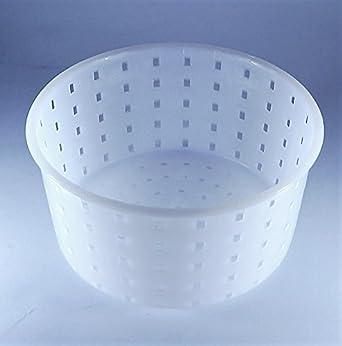 Molde de queso - 0.9kg - 13x7cm Caciotta | Molde para hacer queso con forma | Moldes para quesos | Cuajo | Queso Forma: Amazon.es: Alimentación y bebidas