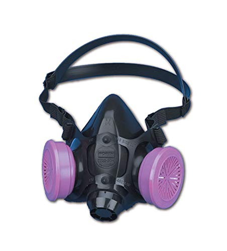 North by Honeywell 770030M 7700 Series Half Mask Respirator W/O Filter, Capacity, Volume, Standard, Medium, Navy