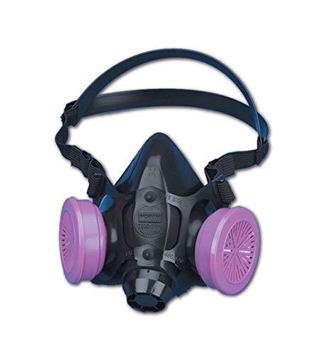 - North by Honeywell 770030M 7700 Series Half Mask Respirator W/O Filter, Capacity, Volume, Standard, Medium, Navy