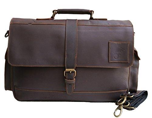 15 buffalo leather messenger bag laptop case office briefcase gift for men computer distressed shoulder bag