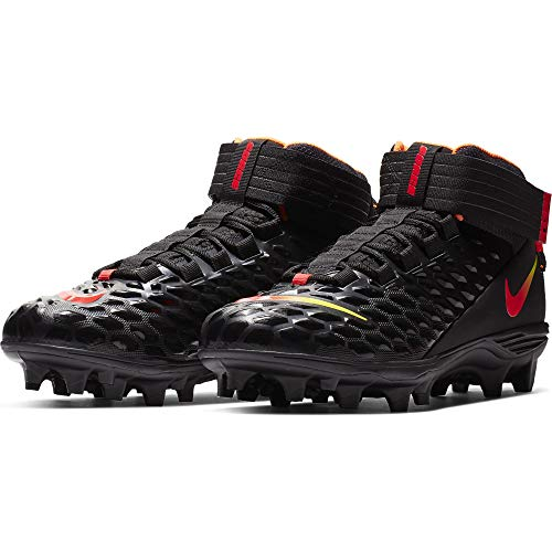 - Nike Men's Force Savage Pro 2 Football Cleat Black/Red Orbit/Total Orange Size 7 M US