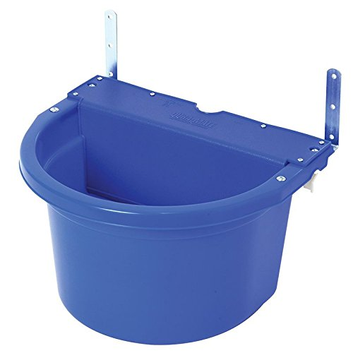 (Little Giant Fence Feeder with Mounting Brackets, 20-Quart, Blue)