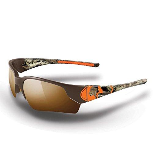 Mossy Oak Break-Up Camo Men's Ramrod Orange Camo Frame/Smoke Lens Wrap-Around 76mm Sunglasses