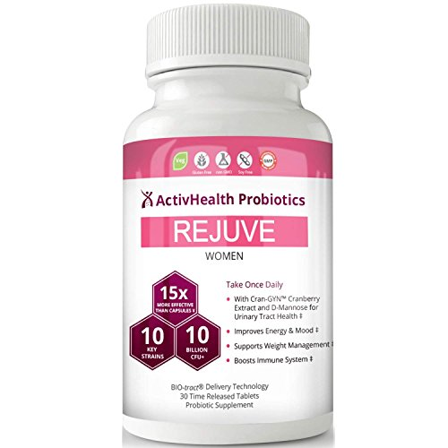 Women's Probiotics Doctor Approved, Cranberry Extract & D-Mannose - 10 Billion CFU 15X More Effective Patented Delay Release, Best Probiotic for Women with Prebiotic, Supports Weight Loss, Digestion