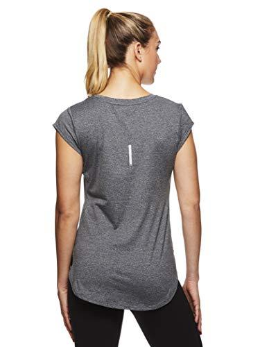 Reebok Women's Legend Performance Short Sleeve T-Shirt with Polyspan Fabric - Charcoal Semi Heather, X-Small by Reebok (Image #3)